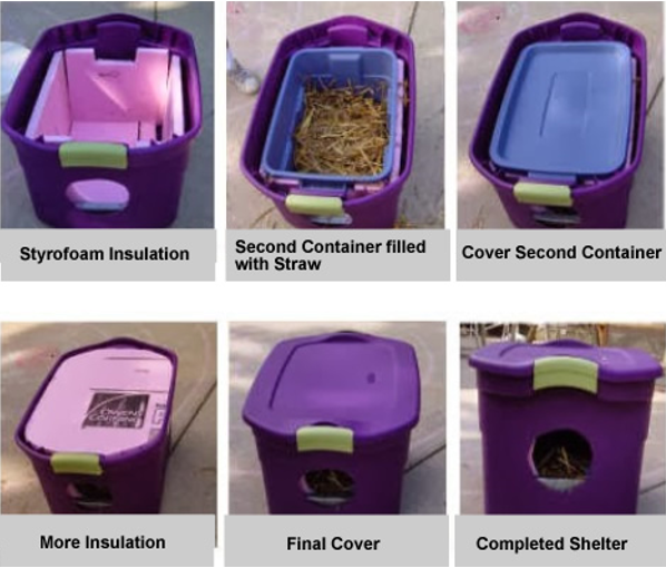 Building Winter Shelters for Community Cats   Alley Cat Advocates    One of our favorite designs uses two Rubbermaid™ storage bins   removable lids