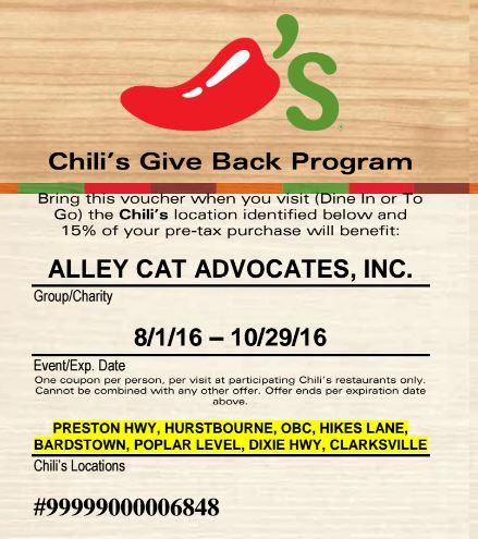 Chili's Give Back Program